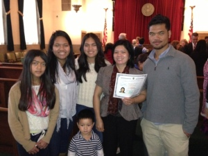 Piong and fam at GSO Oath Ceremony